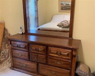 #29dresser w mirror 7 drawers 58x18x30 mirr41x41 $75.00