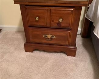 #31		laminate top 2 drawer bedside table 22x15x21	 $35.00