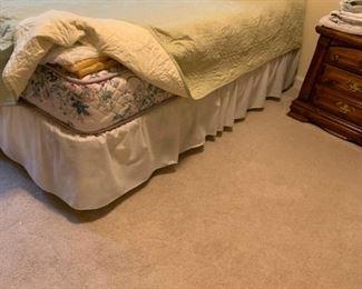 #46twin mattress set w frame  $65.00