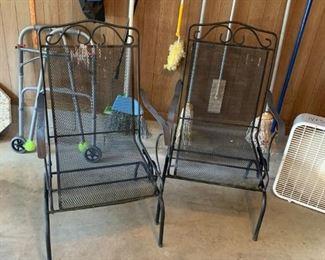 #56metal bounce chair (2) @ $40 ea