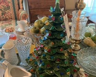 #59ceramic christmas tree  $40.00