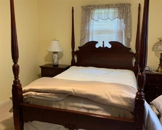 #50  (4) post queen bed by Thomasville Impressions $500.00