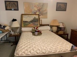 Full size headboard, box spring, mattress - like new condition - great price
