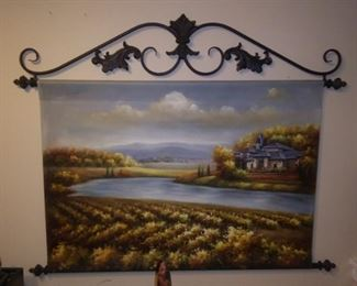 Vineyard oil painting from Biltmore Inspirations