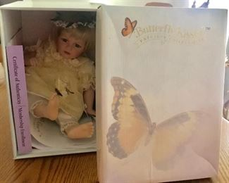 Butterfly Kisses porcelain doll