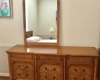 Mid-century dresser with mirror