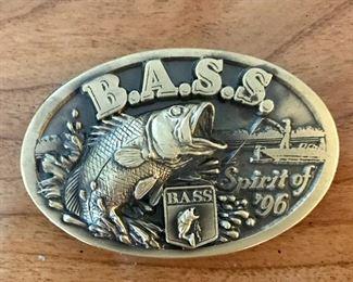 Brass BASS belt buckle