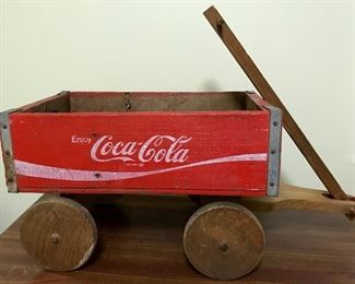Wagon made from vintage Coke crate