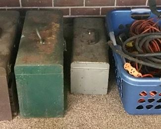 Tool boxes and extension cords