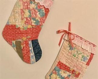 Handmade quilt stockings
