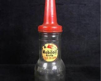 Jl017 Mobiloil Arctic Glass Motor Oil Bottle