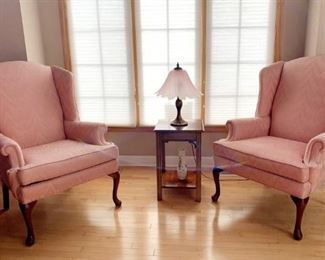 2 Side Chairs & Lovely Small Lamp