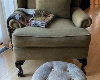 Side Chair & Ottoman