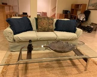 Couch & Modern Cocktail Table