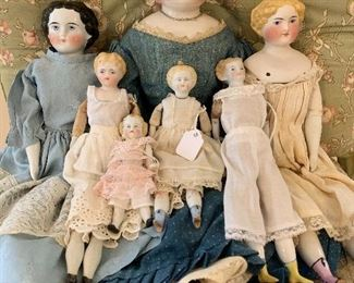 Antique China Head Dolls and Parian Types.