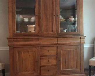 "Large Custom built lighted China cabinet (available for presale - you must have movers).   Measures 72"" across by 21 1/2"" deep by 88 3/4"" tall."