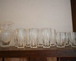 MARQUIS BY WATERFORD WATER PITCHER & DRINKING GLASSES