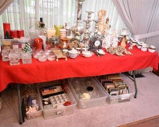 DECOR-CANDLES, FRAMES, ANGELS, TEA SET