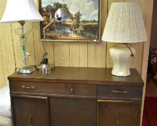 CABINET, LAMPS