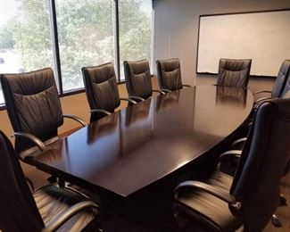 Conference Room Table With 10 Chairs