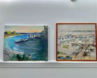Original landscape and  boating/ocean paintings of Martha's Vineyard by Joan Kennedy