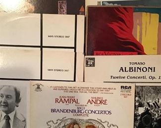 Records - one group of many, many records in this auction.