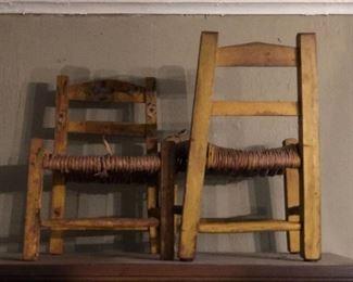 Antique children's chairs