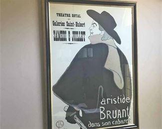 1890s Toulouse Lautrec Framed Poster Print
