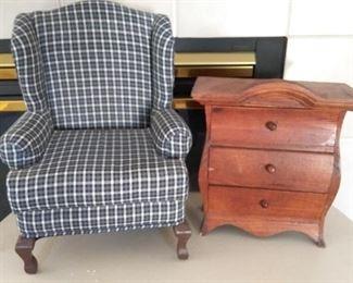 Miniature Chair and Dresser