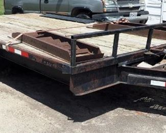 14' x 8' Double Axle Utility Trailer, VIN# 000227954, New Brakes, Includes Steel Ramps