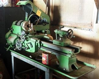 Logan Screw Cutting And Turret Lathe, Model # 820 Includes Rolling Stand,