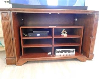 Open View of Television Stand