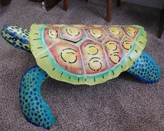 Outstanding  Colorful Metal Art Of A Sea Turtle
