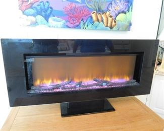 Electric Fireplace -- On