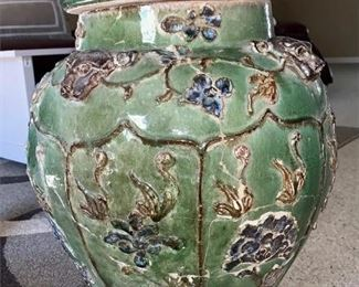 Estate antique very large heavy urn from Vietnamese Royal Family