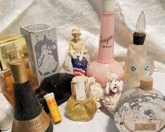 Vintage Jergens Lotion  Container &  Vintage Avon Bottles