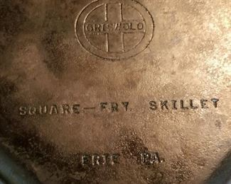 Square Fry Skillet Cast Iron