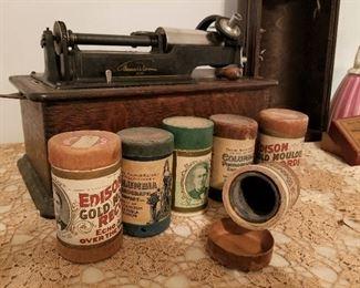 Phonograph Edison Music Wax Cylinder Tubes