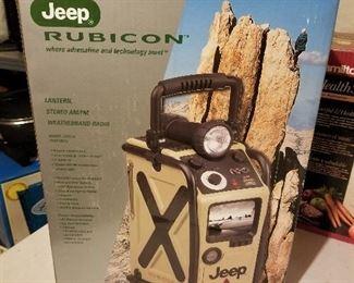 Jeep Rubicon Lantern Stereo AM/FM Weather Radio