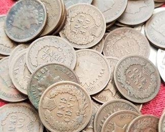 Indian Head Pennies 1800's - 1900's