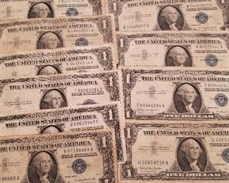 Silver Certificate Dollars