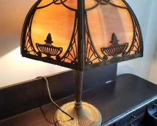 Antique E & M Slag Lamp (Early 1900's)