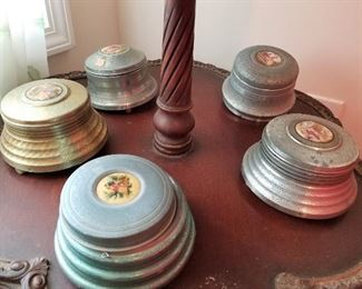 Vintage Music Boxes (Possible Candy Dish)
