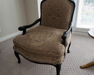 Pair of upholstered bergeres