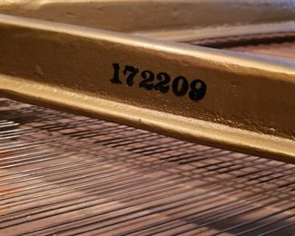 Serial number of piano