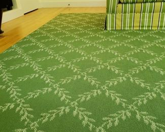 Room size rug approximately 15 feet 9 inches by 16 feet 1 inch