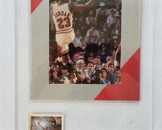 Michael Jordan card and photo, unsigned