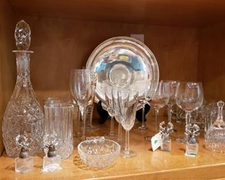 Many pieces of glassware