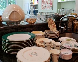 Everyday miscellaneous china, sorry the ROSENQUIST IS NOT FOR SALE