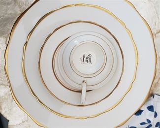 """Grosvenor gold rimmed china """"Classic"""""""